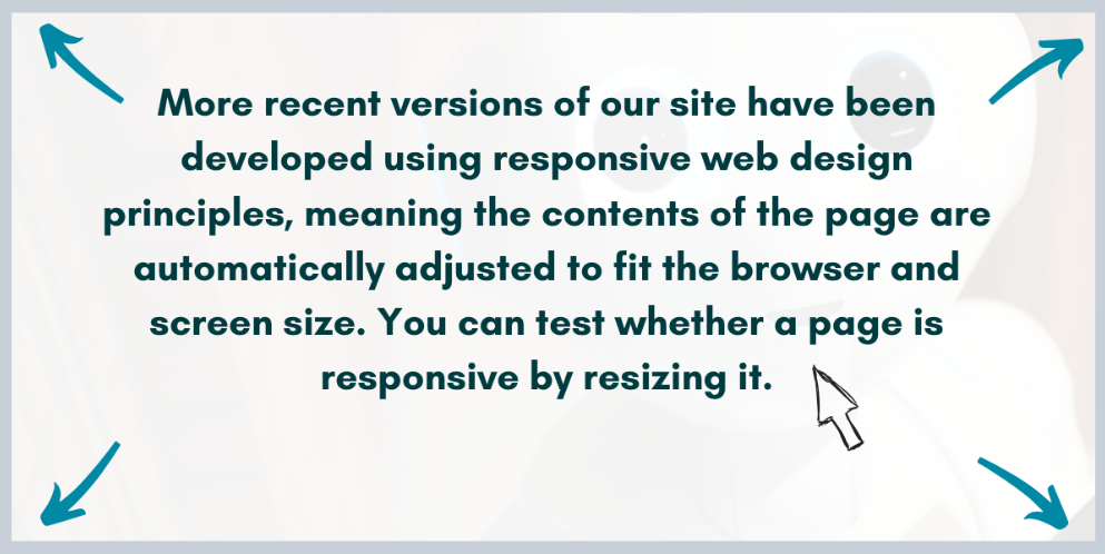 Graphic explaining how to test whether a website is responsive.